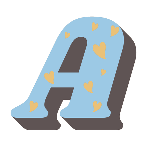 A letter sparkly retro alphabet font