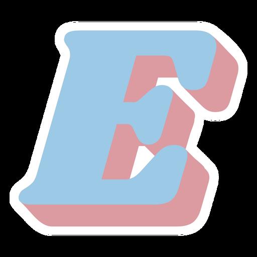 E letter sparkly retro alphabet font