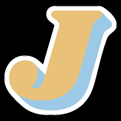 J letter sparkly retro alphabet font