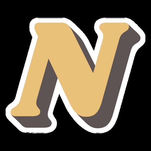 N letter sparkly retro alphabet font