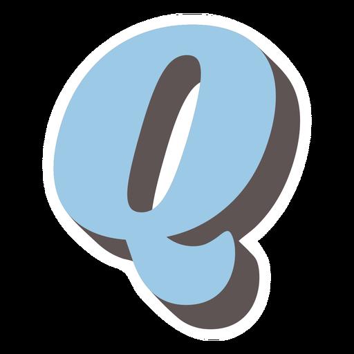 Q letter sparkly retro alphabet font