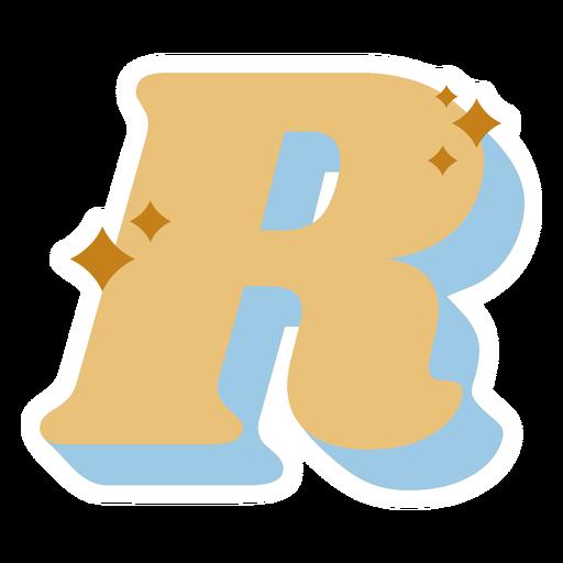 R letter sparkly retro alphabet font