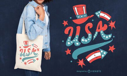 Usa tote bag design