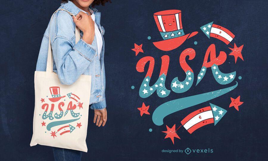Usa tote bag design