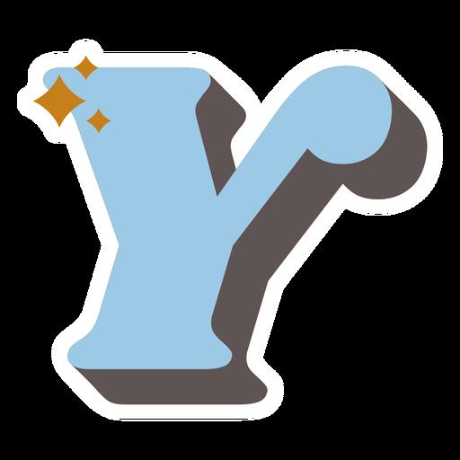 Y letter sparkly retro alphabet font