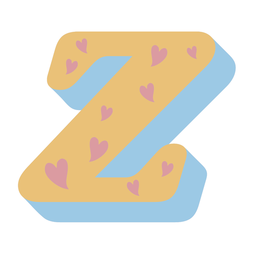 Z letter sparkly retro alphabet font