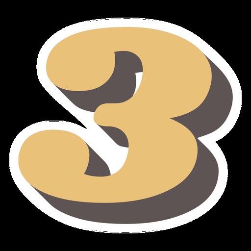 Number three retro alphabet font