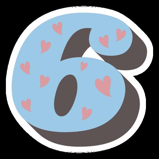 Number six retro alphabet font