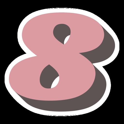 Number eight retro alphabet font
