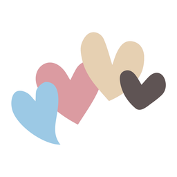 Love hearts flat