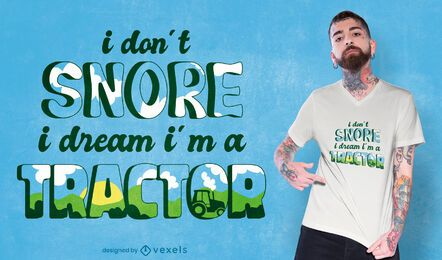 Diseño de camiseta de cita divertida que ronca