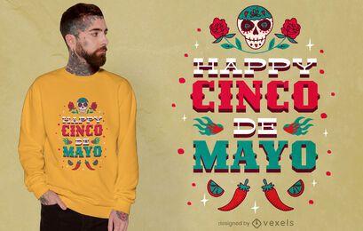 Diseño de camiseta Happy Cinco de Mayo