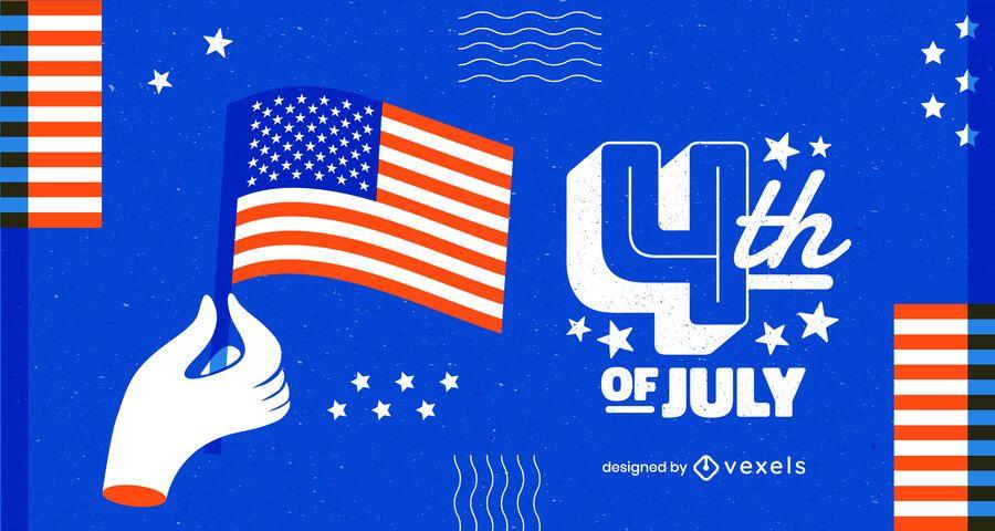 Fondo moderno del cuatro de julio