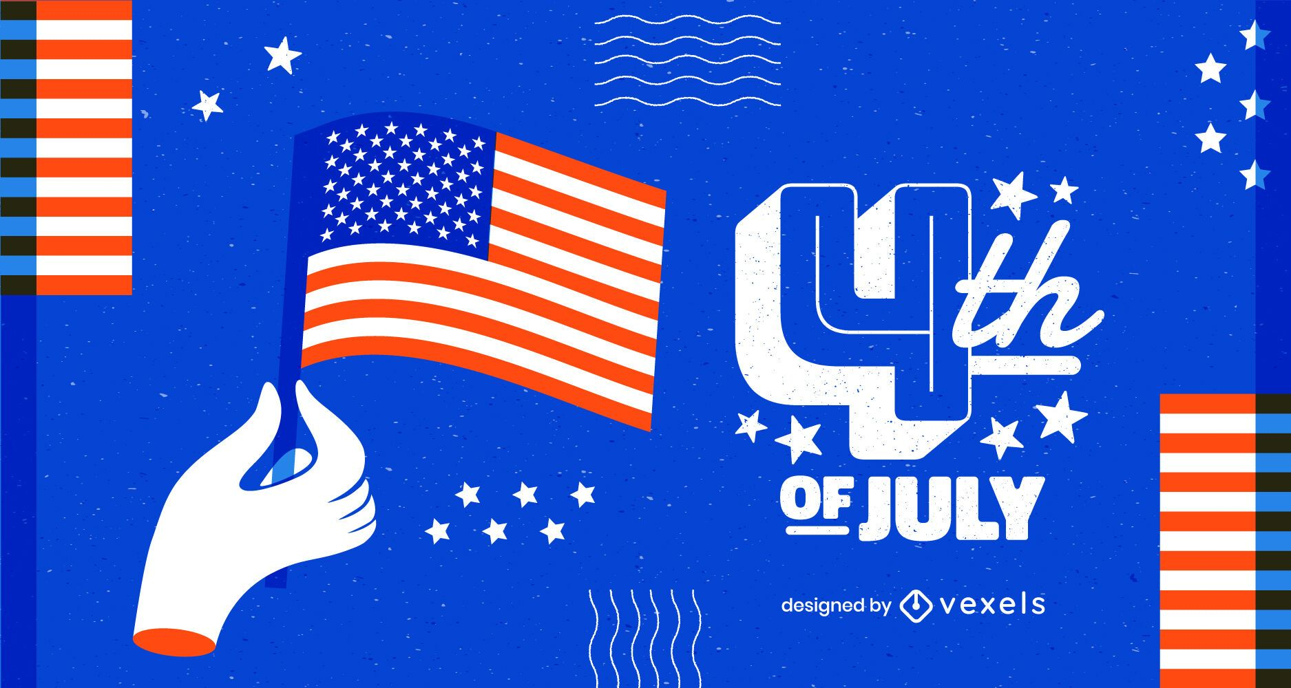 Fourth of july modern background