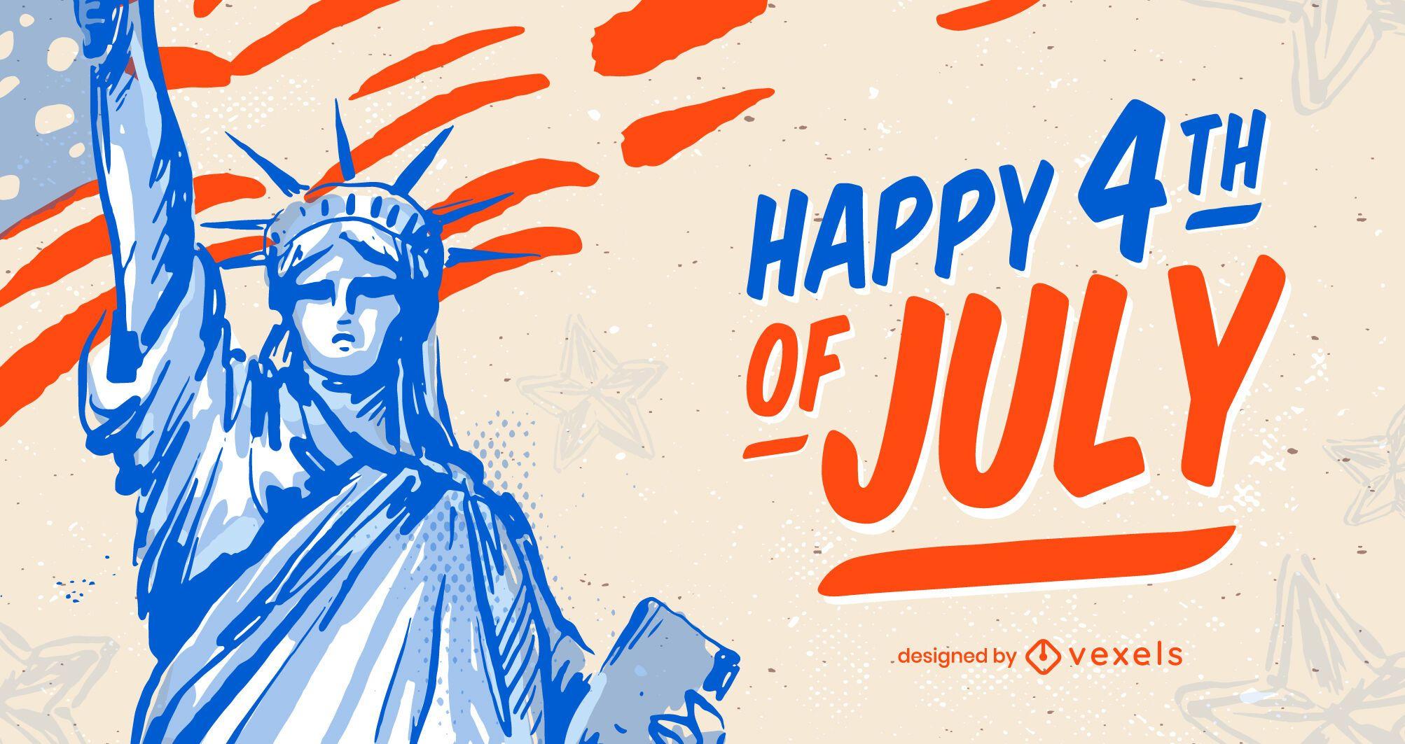 Fondo feliz cuatro de julio
