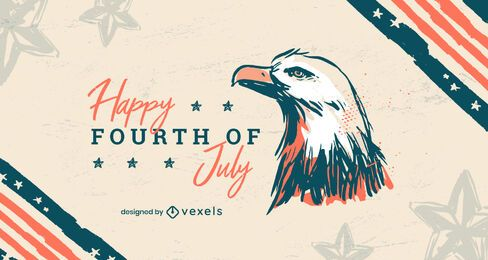Fourth of july eagle background