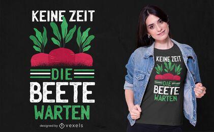 Design de camiseta com citações alemãs de beterraba