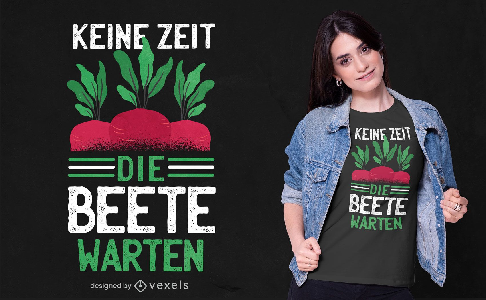 Diseño de camiseta de cita alemana de remolacha.