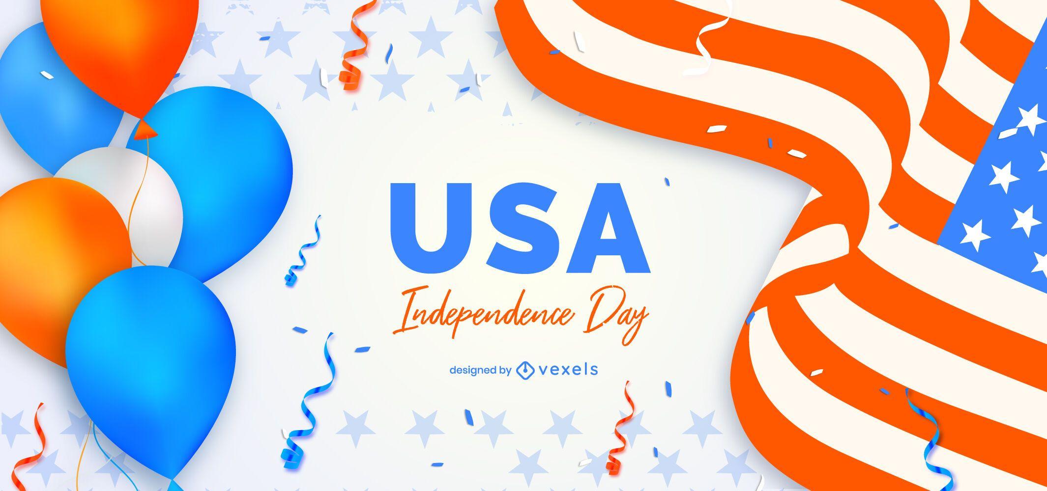 Fondo del día de la independencia de estados unidos
