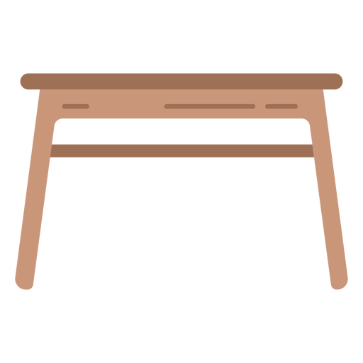Wood table flat