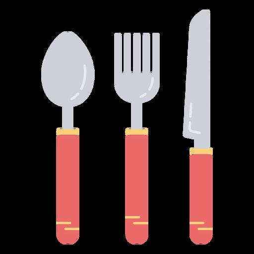 Eating utensils flat