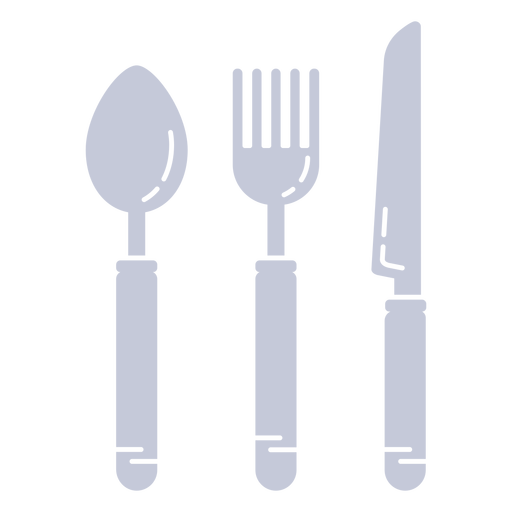 Eating utensils cut out
