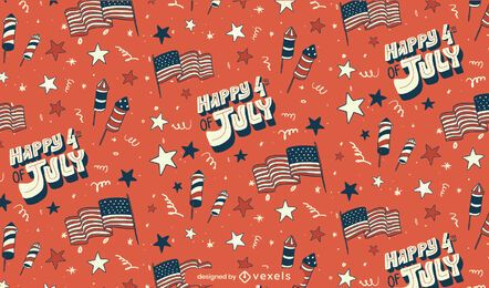Fourth of july seamless pattern