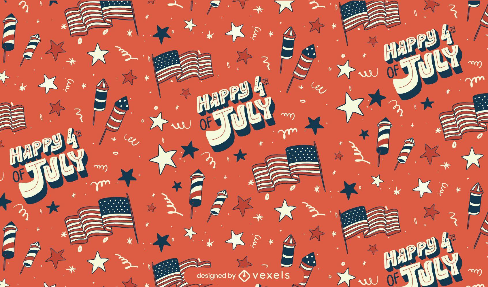 Fourth of july seamless pattern