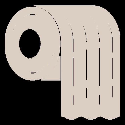 Toilet paper cut out