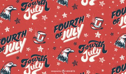 Fourth of july usa seamless pattern