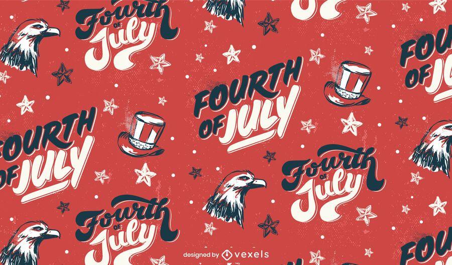 Fourth of july usa seamless pattern