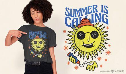 O verão está chamando o design de camisetas