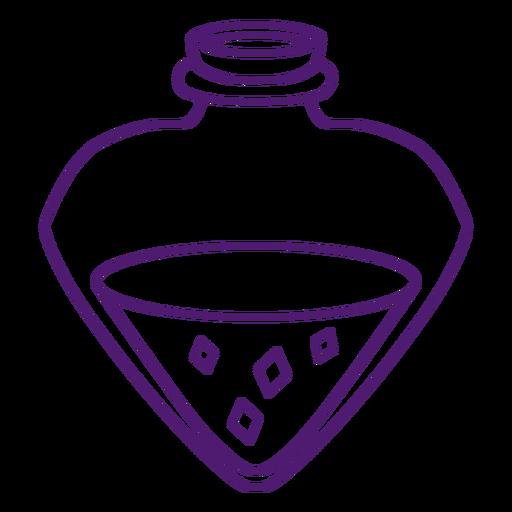 Magical potion bottle stroke