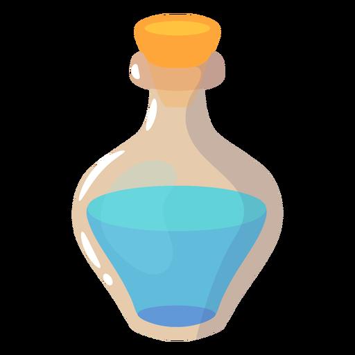 Bottle with blue potion semi flat