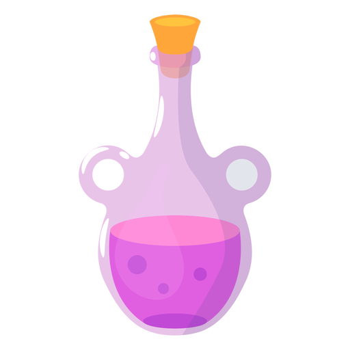 Bottle with purple potion semi flat