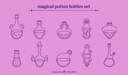Magical potions stroke set