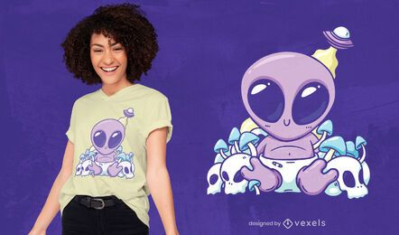Baby alien t-shirt design