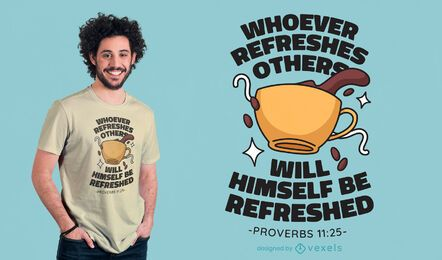 Coffee proverb t-shirt design