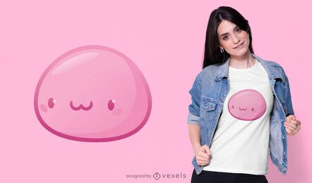 Kawaii pink Japanese mochi t-shirt design
