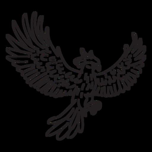 Phoenix with spread wings stroke