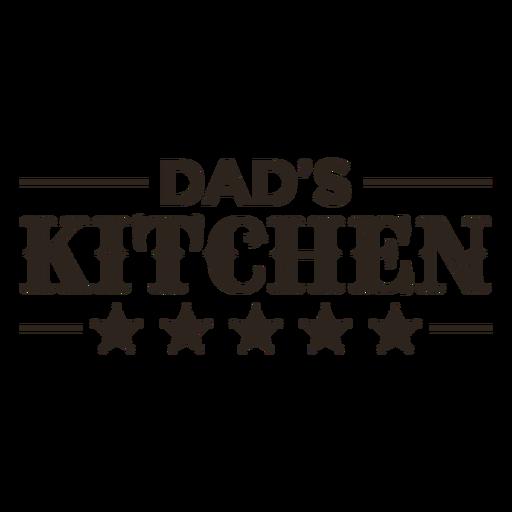 Dad's kitchen label filled stroke