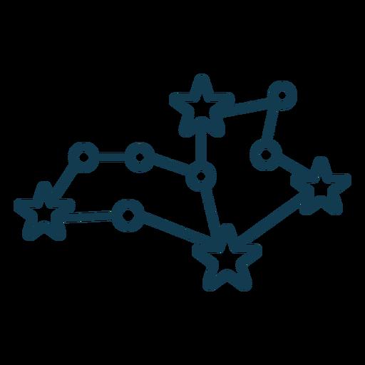 Simple constellation geometric stroke