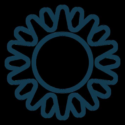 Simple sun geometric stroke element