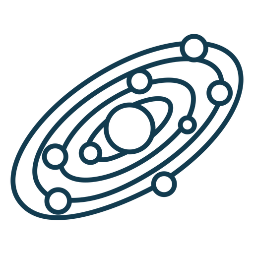 Simple solar system geometric stroke