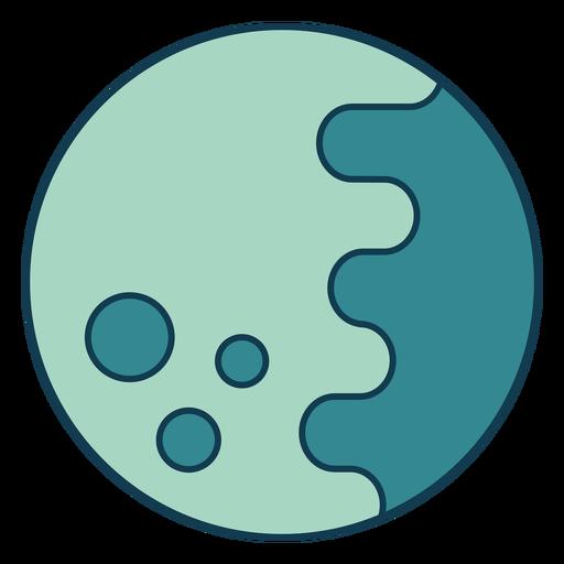 Full moon geometric color stroke element