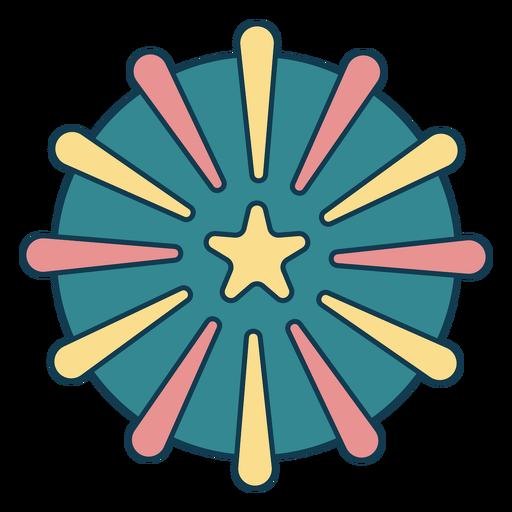 Simple star geometric color stroke element