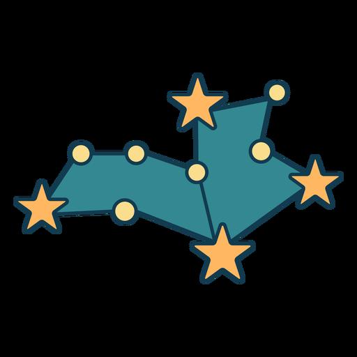 Simple constellation geometric color stroke