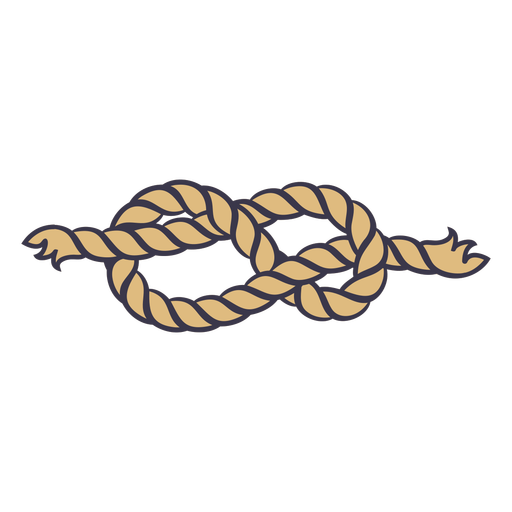 Double common knot rope color stroke