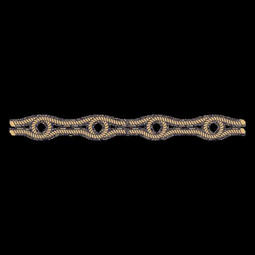 Double knot color stroke separator element