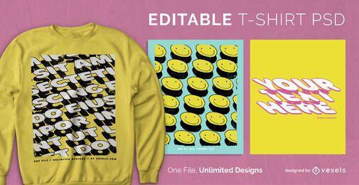 T-shirt escalável Shadows psd